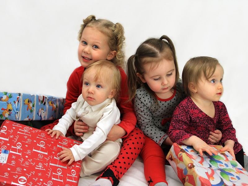Christmas children portrait