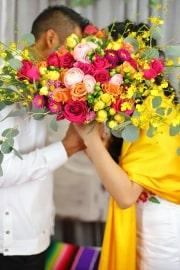Wedding Bouquet Bride and Groom