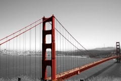 Golden Gate Bridge in Black and White