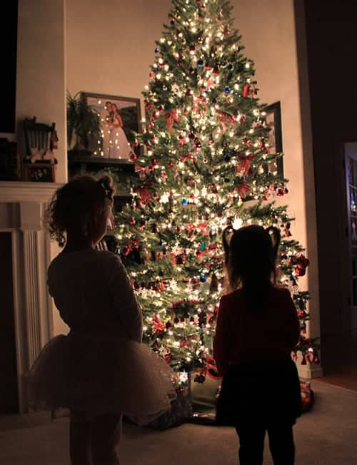 How to Take a Photo of a Glowing Christmas Tree Silhouette